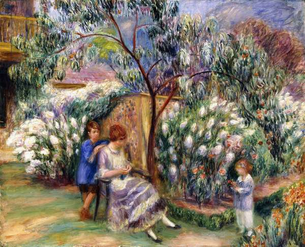 In the Garden, 1917 (oil on canvas)