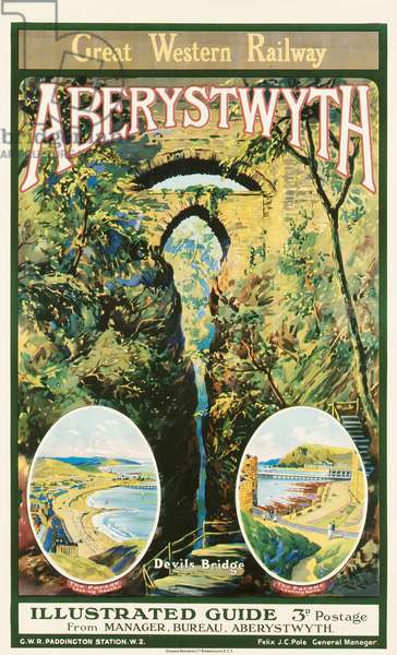 'Aberystwyth', poster advertising the Great Western Railway, 1926 (colour litho)