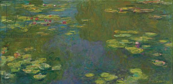 The Waterlily Pond; Le bassin aux nympheas, 1919 (oil on canvas)