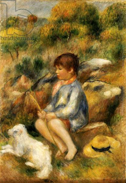 Young Boy by a Brook, 1890 (oil on canvas)