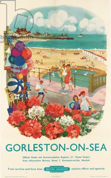 Gorleston-on-Sea, poster advertising British Railways, 1950s (colour litho)