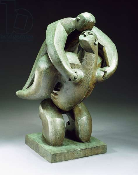 Mother and Child, 1930 (bronze with green and brown patina)