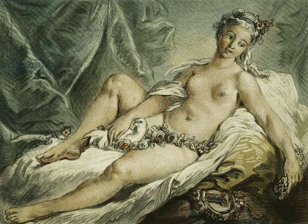 The Awakening of Venus, after F. Boucher; Le Reveil de Venus, after F. Boucher, 1769 (chalk-manner etching with engraving printed in colours)