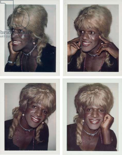 Ladies and Gentlemen (Marsha P. Johnson), 1975 (four polaroid prints)