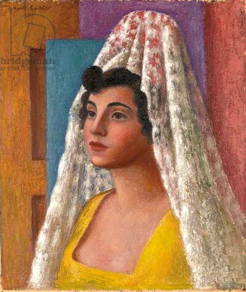 Portrait of Dorothy Morland, 1937 (oil on board)