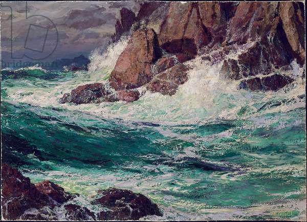 Stormy Seas, 1923 (oil on canvas laid on masonite)