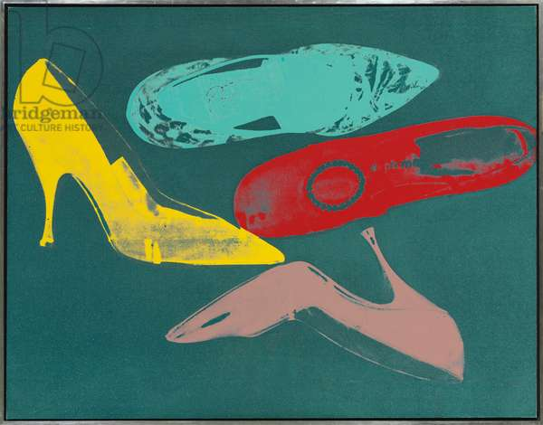 Diamond Dust Shoes, 1980-1981 (synthetic polymer and silkscreen inks on canvas with diamond dus)