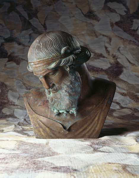 An Italian bronze bust of Plato, after the antique, c.1908 (bronze)