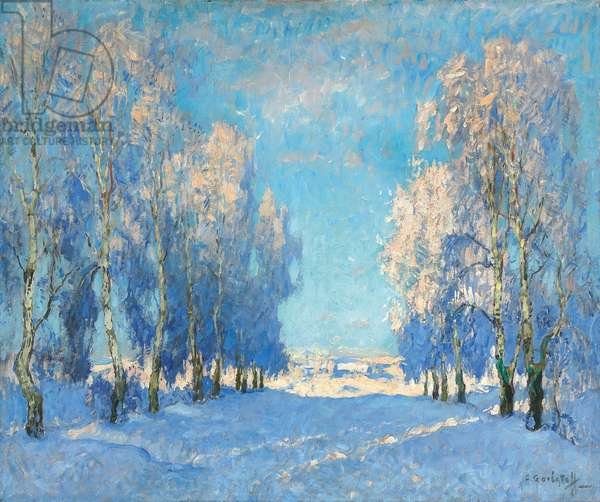 A Winter's Day, 1934 (oil on canvas)
