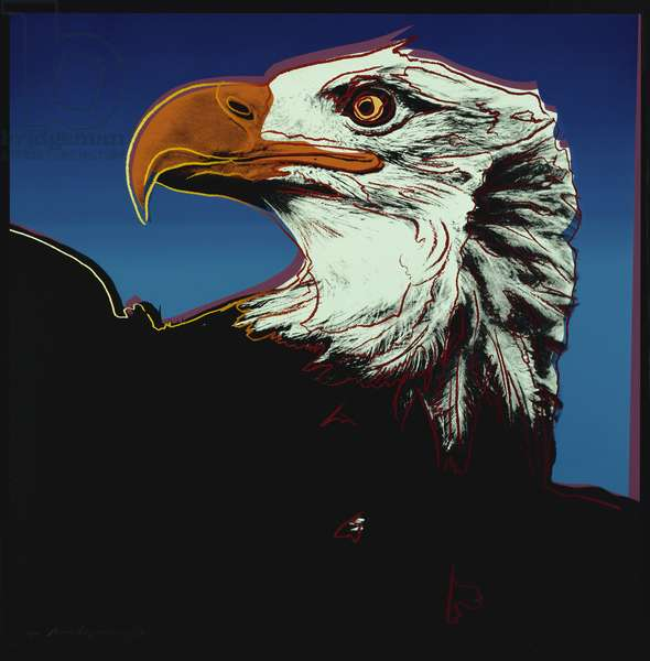 American Eagle, from 'Endangered Species', 1983 (colour screenprint)