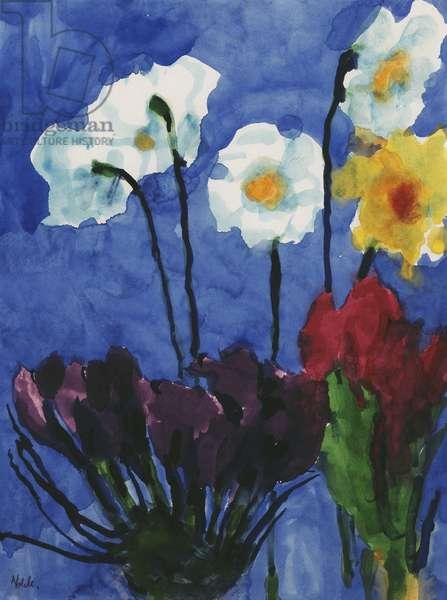 Summer Flowers; Sommerblumen, c.1952 (watercolour on japan paper)