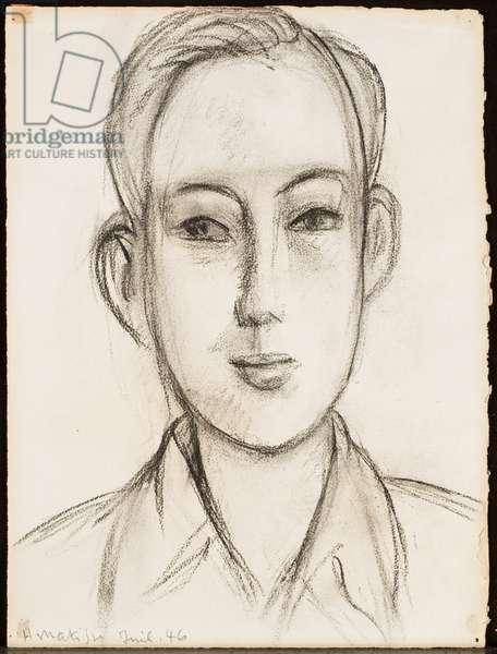 Portrait of Paul, 1946 (charcoal on paper)