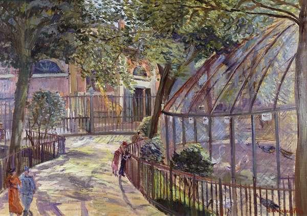 Zoological Garden; Jardin Zoologique, (oil on canvas)