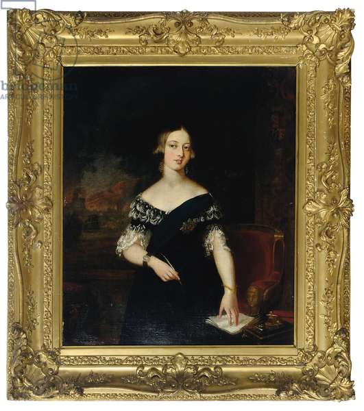 Portrait of the young Queen Victoria (oil on canvas)