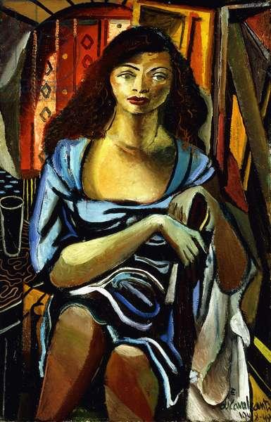 Mulatto with Blue Dress; Mulata con Vestido Azul, 1948-49 (oil on canvas)