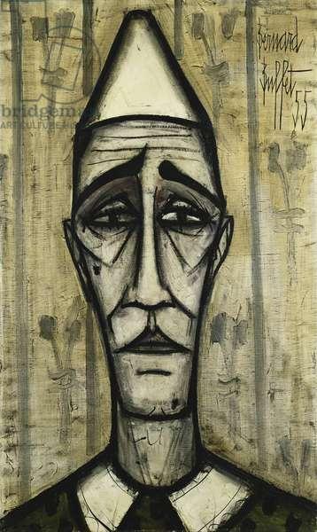Head of a Clown; Tete de Clown, 1955 (oil on canvas)