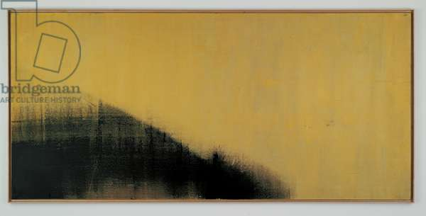 Shadow Painting, 1978 (synthetic polymer, metallic paint & silkscreen ink on canvas)