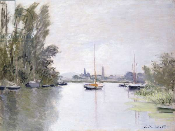 Argenteuil, view of the Small Arm of the Seine, 1872 (oil on canvas)