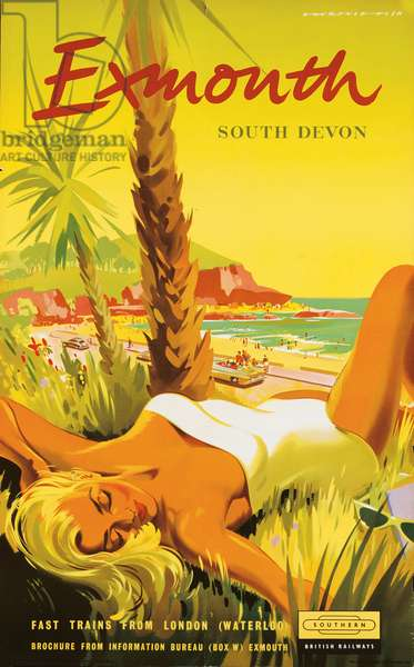 Exmouth, poster advertising British Railways, 1958 (colour litho)