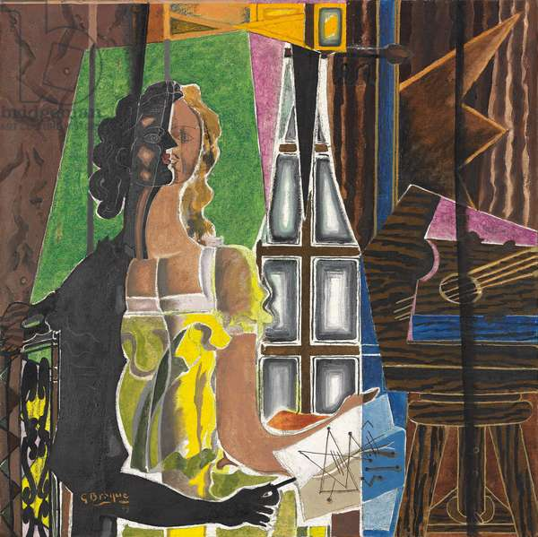 Le Modèle, 1939 (oil & sand on canvas)