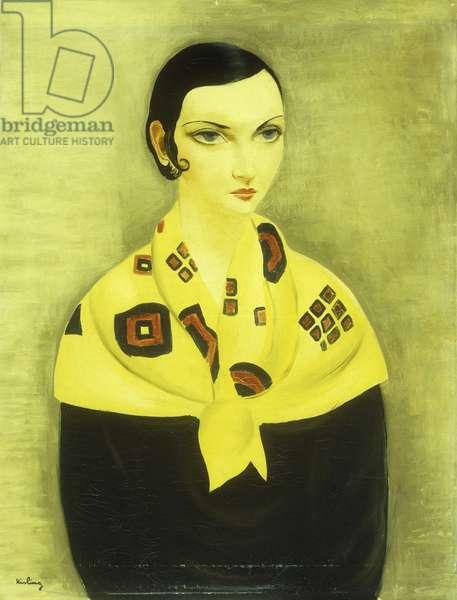 Portrait de Femme, (oil on canvas)