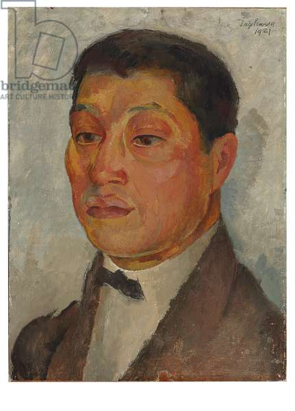 Portrait of Xavier Guerrero, 1921 (oil on canvas laid on masonite)