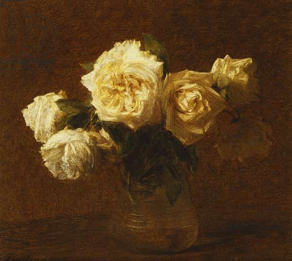 Six Yellow Roses in a Vase; Six Roses Jaunes dans une Vase, 1903 (oil on canvas)