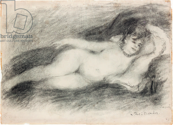 Reclining nude, c.1903-7 (charcoal on paper)