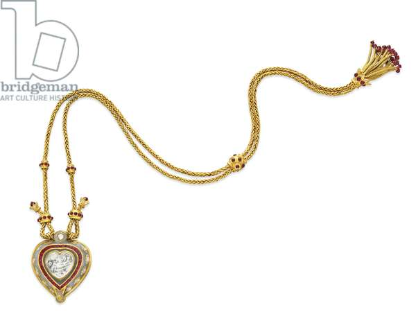 The Taj Mahal, Indian diamond pendant necklace, c.1972 (diamond, jade, rubies, gold & enamel) (see also 469814 and 469815)