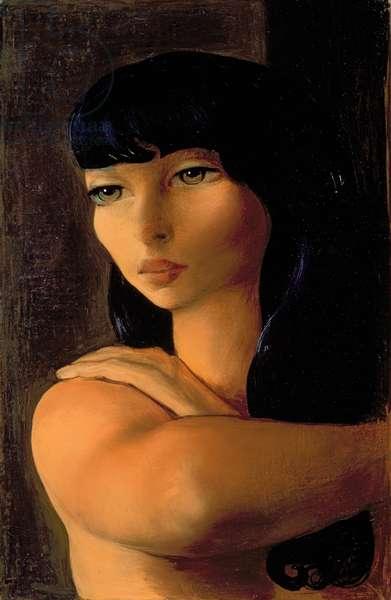 Little Brunette, c.1930 (oil on canvas)