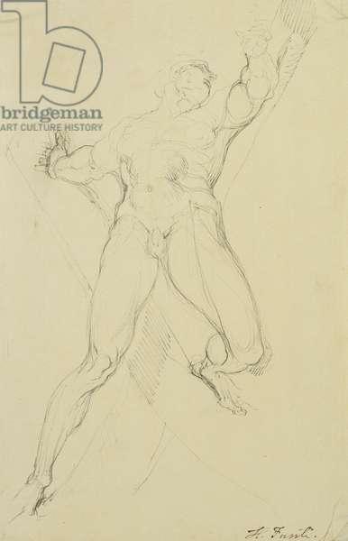 Haman, After Michelangelo, (pen and grey ink)