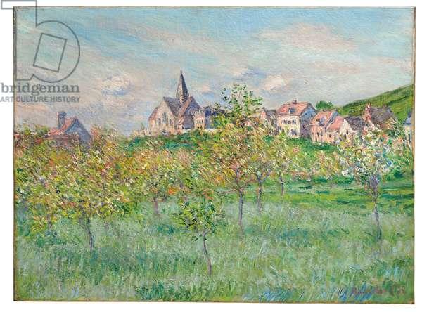 Printemps à Giverny, effet d'après-midi, 1885 (oil on canvas)