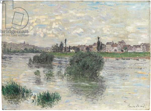 The Seine at Lavacourt, 1879 (oil on canvas)