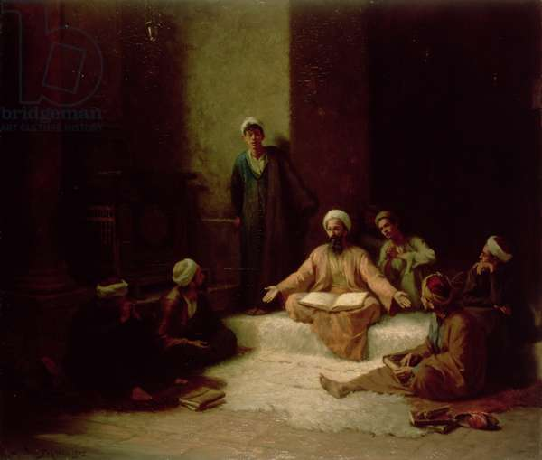 The Koran School, 1905 (oil on panel)