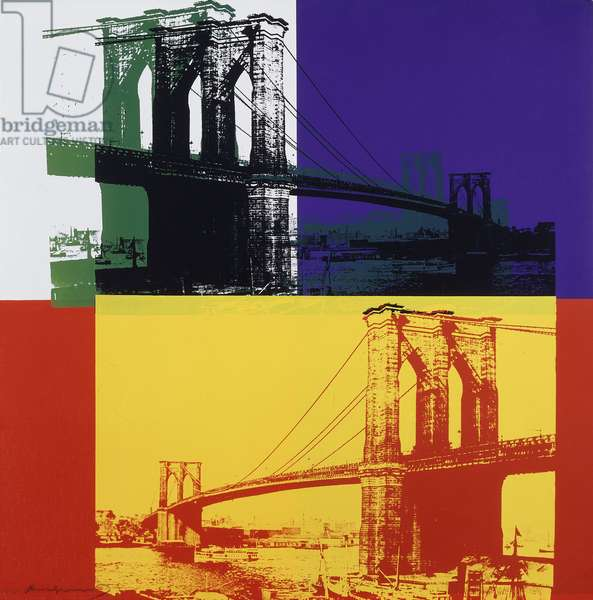 Brooklyn Bridge, 1983 (screenprint printed in colours on lenox museum board)