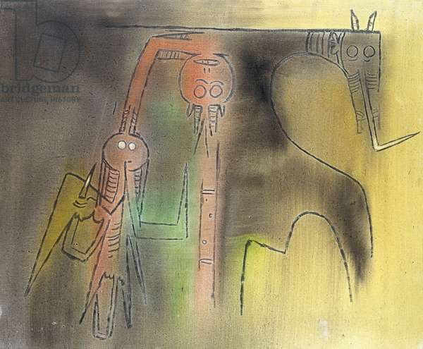 Totem, 1973 (oil on canvas)