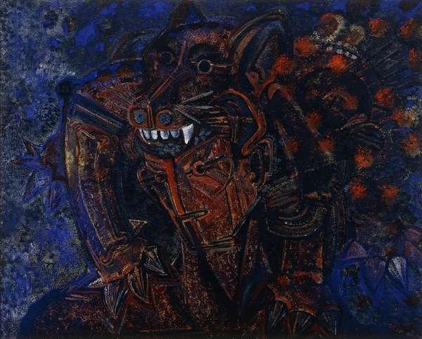 Guerrero; Warrior, 1972 (oil on canvas)