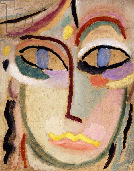 Woman's Head, c.1922 (oil on board)