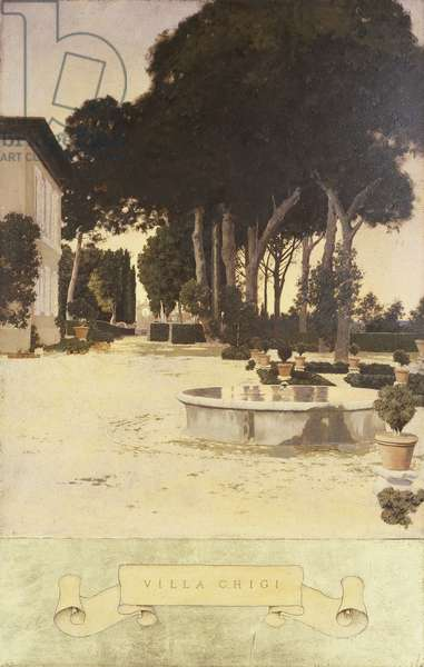 Villa Chigi Outside Rome, 1903 (oil on paper stretched over wood)