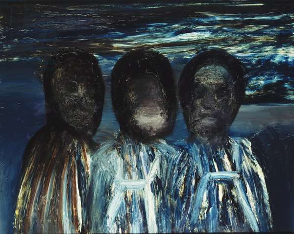 Antartic Explorers, 1964 (oil on board)