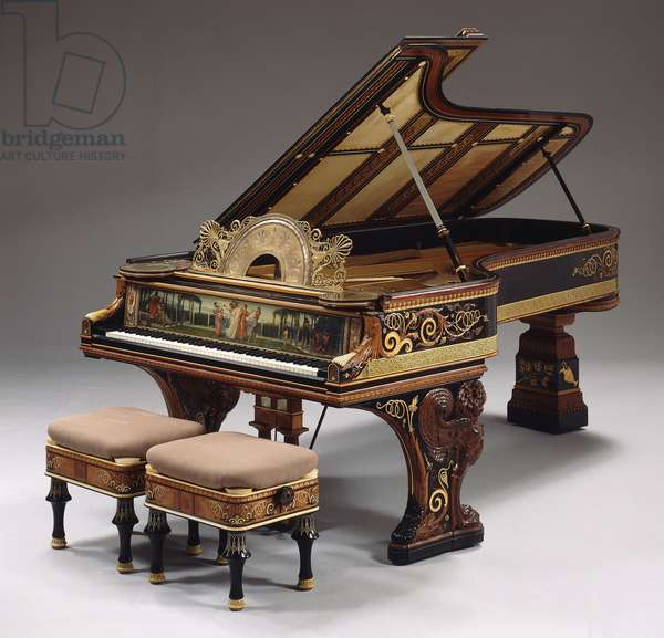 A highly important pianoforte designed by Sir Lawrence Alma-Tadema, action by Steinway New York. Built in 1887., 1887 ()