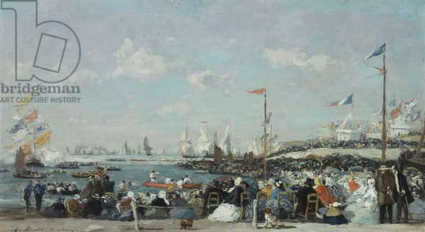 The Regatta at Le Havre, 1869 (oil on canvas)