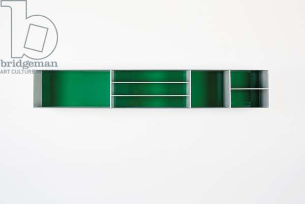 Untitled, 1985 (anodized aluminum clear and green Plexiglas)