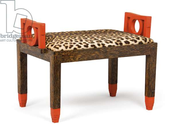 Banquette, c.1928-29 (wood & leopardskin) (pair to 438722)
