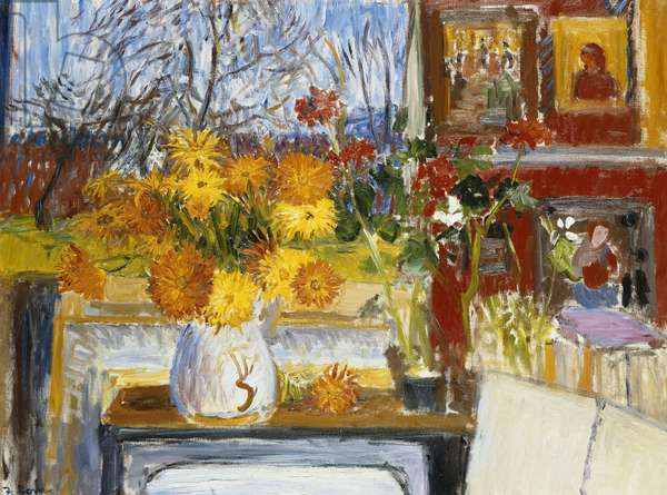 Interior with Marigolds, 1957 (oil on canvas)