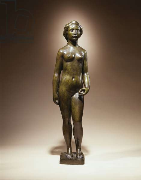 Little Flore Nude, 1911 (bronze with green and brown patina)