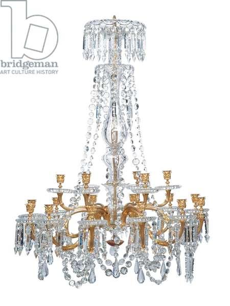 Eighteen-light chandelier, late 19th century (ormolu & glass)