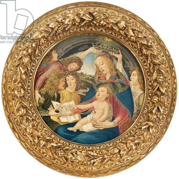 Madonna of the Magnificat, circle of Ricciardo Meacci (b.1856) (w/c & gold on paper)