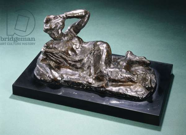 Nude lying on a chemise, 1906 (bronze with dark brown patina)