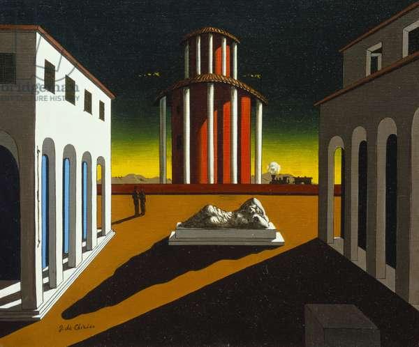 Piazza d'Italia, c.1950 (oil on canvas)